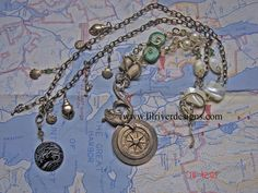 Casco Bay Necklace and Earring Set by lilriverdesigns on Etsy, $135.00
