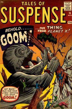 Tales of Suspense Issue # 1 (Marvel Comics) Vintage Comic Books, Vintage Comics, Marvel Comic Books, Comic Books Art, Book Art, Captain America, Iron Man, Jack Kirby Art, Tales Of Suspense