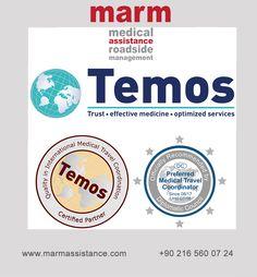 """marm is proud to announce its certification for """"Quality in International Medical Travel Coordination"""" by Temos, an independent certification body for excellence in medical tourism. marm, sağlık turizminde kalite ilkelerini belirleyen dünyaca ünlü bağımsız sertifikasyon kuruluşu olan Temos tarafından """"Uluslararası Sağlık Seyahat Koordinasyonu Kalite Sertifikası"""" ile ödüllendirilmiştir.  #TEMOS #temos #sağlıkturizmi #DiplomaticCouncil #Quality #InternationalMedicalTravelCoordination…"""