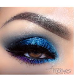 Jewel Tone Eye #Makeup Look by #ElyMarino with #Motives. Click-Through for #Tutorial.