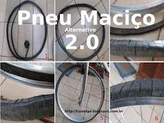 Foto: Pneu Maciço Alternativo versão 2.0 - Ideia de pneu de bicicleta sem câmara…