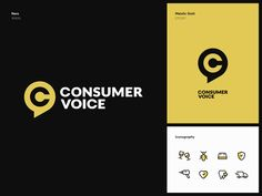 ConsumerVoice Branding designed by Cuberto. Connect with them on Dribbble; Brand Presentation, Web Platform, Show And Tell, Branding Design, Logo, Disability, Display Ideas, Brand Identity, Offices
