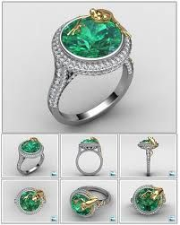 Frog Tourmaline Ring