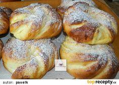 Tvarohové vrkoče recept - TopRecepty.cz Pavlova, Bread, Food, Buns, Deserts, Roll Ups, Cooking, Brot, Essen