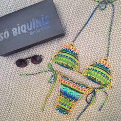Boa tarde! Olha esse biquíni deuso, essa é a nossa nova estampa étnica. Tá maraaaa. Tempos disponíveis no tam P e M. Preço - R$ 79,00. Corre no site. #biquini #modapraia #beach