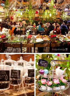 Tokyo : Japan : Aoyama Flower Market Tea House -- This beautifully put together tea house is located inside of a flower store. Offer vast varieties of tea, but no coffee. French toast is highly recommended. #bakery