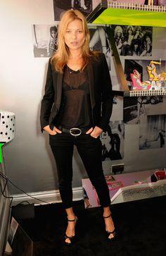Kate Moss Goes Sheer For a Footwear Fete in London