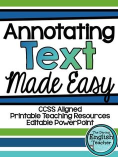 Powerpoint to show students on how to annotate a text close annotating text made easy step by step annotating and close reading instruction ccuart Gallery