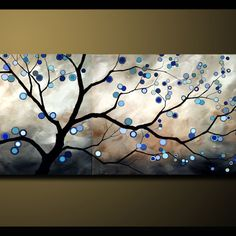 Love this painting with blue circles!