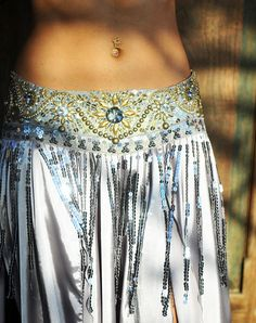 Belly Dance Belt in Vintage Silver and Gold with by PoisonBabe, $195.00