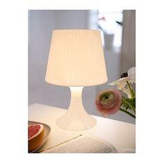 IKEA - LAMPAN, Candeeiro de mesa, Proporciona uma suave iluminação ambiente.