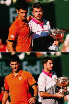 """By denying Djokovic victory, Wawrinka defied all predictions and stopped the Serb's grand slam ambitions in their tracks. He described it courtside as """"the game of my life""""."""