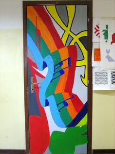 Music classroom, door decoration
