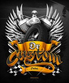 Dr-Custom Motorcycle Dubai graphic