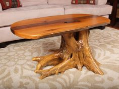 Oak and walnut coffee table with white cedar by SuperiorTimbers, $1250.00