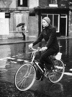 Ingrid Bergman by Bike