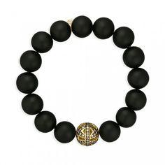 Sydney Evan bracelet: Champagne Diamond Butterfly Ball on Onyx