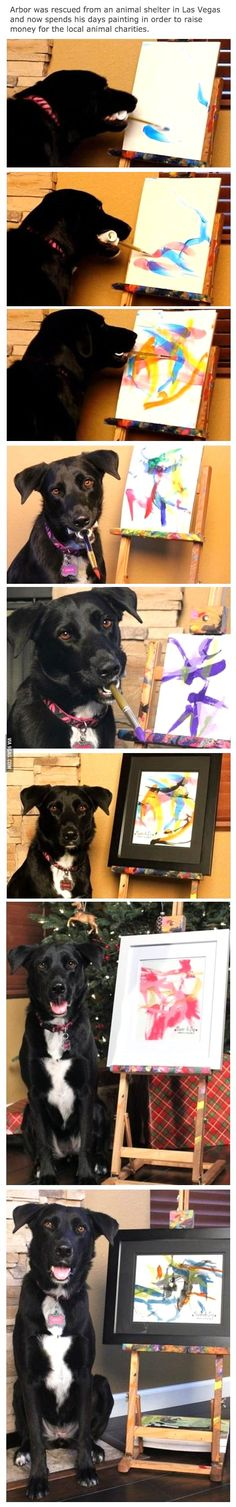 I would love to do this with MacGyver, but he'd probably eat the paint and the brush.