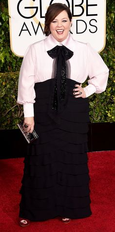 Golden Globes 2015: Red Carpet Arrivals - Melissa McCarthy from #InStyle