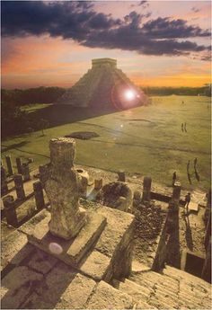 Chichen Itza Sunset. Mexico. Let Uniglobe Travel Designers help plan your next adventure! www.uniglobetraveldesigners.com