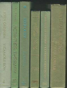 Books By The Foot, Lot of 10-12 hardcover books in shades of olive green, Instant Library, Staging, Big shelf-filler set by CalhounBookStore on Etsy