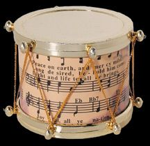 Snare Drum And Sheet Music Ornament By Midwest Of Cannon Falls