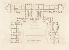Floor plan of Castle Howard / Colen Campbell