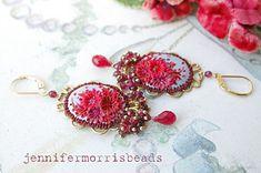 raspberries in the sky  vintage embroidery di jennifermorrisbeads