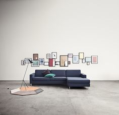 From left is the Polygon rug, Twiiiter lamp and Scandinavia sofa.