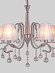 Chandelier+,++Modern/Contemporary+Electroplated+Feature+for+Crystal+Metal+Living+Room+Study+Room/Office+–+EUR+€+358.78
