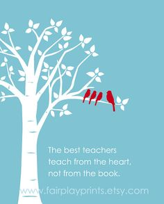 Inspirational Quote  Gift for Teacher  Teaching by fairplayprints, $15.00