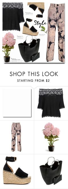 """Rosegal off shoulder top"" by ucetmal-1 ❤ liked on Polyvore featuring Dries Van Noten, National Tree Company, Chloé and 10 Crosby Derek Lam"