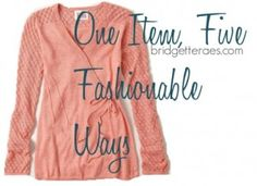 """In today's """"One Item, Five Fashionable Ways"""" learn about a new clothing classification called The Novelty Basic and check out the five ways I styled this sweater. via @Bridgette Raes"""