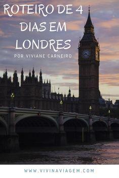 Quando decidimos fazer a nossa primeira viagem para Europa pensamos em colocar no roteiro destinos indispensáveis com Paris e Roma, mas Londres não estava nos nossos planos. Até que um dia o André sugeriu e nós não nos arrependemos de acrescentá-lo a lista, muito pelo contrário, nos apaixonamos por Londres. Confira o nosso roteiro de 4 dias em Londres. London Eye, Buckingham Palace, London Travel, Roma, Stratford Upon Avon, Piccadilly Circus, Trafalgar Square, Eurotrip, Westminster