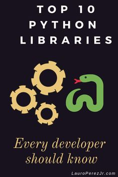 The top 10 python libraries are quick and easy to pick up. The programming language is pretty neat too. While it is easy to learn, the libraries available are powerful. I have compiled a list of the Top 10 Python Libraries every programmer should know. Learn Computer Coding, Basic Computer Programming, Learn Programming, Python Programming, Programming Languages, Computer Technology, Computer Science, Pi Computer, Programming Tutorial