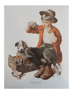 Norman Rockwell at Kingpaper on Etsy