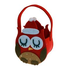Owl Felt Gift Bag. £2.50. Christmas Gift & Decor Bags will help you to decorate every present or corner of your home this Winter. These small but spacious festive bags are made of felt with a handle. They come in a variety of designs such as a Snowman and an Owl face design, or a Reindeer and Father Christmas design. Put a smile on someones face with one of these beautiful felt Christmas bags.