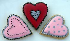 Lemon Spice Dotty Hearts   #Iced#sugar#cookies