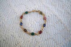 Vintage Jewelry Bracelet Collectible Nine Scarab Bracelet 1960