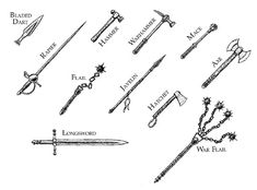 Medieval Weaponry and names | photo medieval_weapons_01_small.jpg