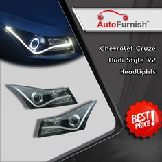 Buy Latest #Car #Light #Accessories Online At Best Price. #AF #HeadLights #Audi #Style V2 http://www.autofurnish.com/headlights-2