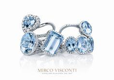 Oro bianco, diamanti e acqua marina #iottigioielli #anelli #gioielli #acquamarina #mircovisconti