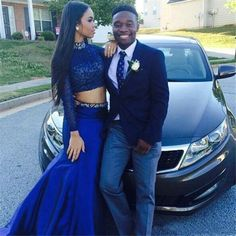 Sexy Royal Blue Prom Dresses Two Piece pst0282 on Storenvy