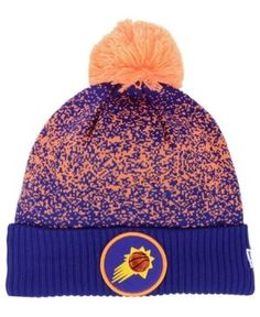 New Era Phoenix Suns On-Court Collection Pom Knit Hat - Purple Adjustable