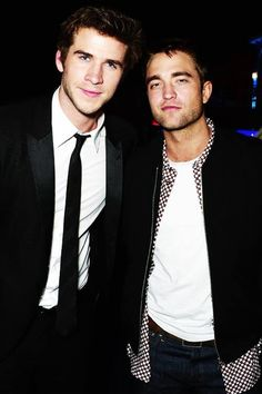 Robert Pattinson and Liam Hemsworth at Vanity Fair Party Cannes 2014