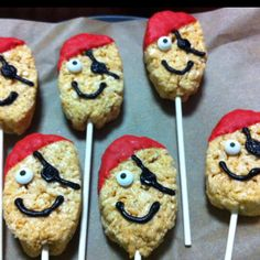 Pirate Rice Krispies for Stevie D's Bday!