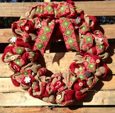 Christmas wreath burlap Christmas wreath Christmas by WandNDesigns