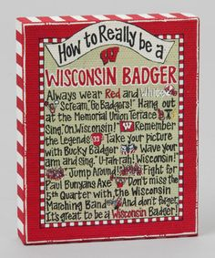 How to Really be a Wisconsin Badger~Time to Tailgate: College Colors | and kids