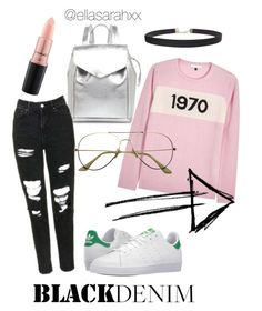 retro trends by ellasarahxx on Polyvore featuring polyvore, fashion, style, Bella Freud, adidas, Loeffler Randall, Humble Chic, MAC Cosmetics and clothing