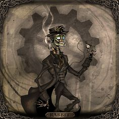 Portrait Rabbit by ... Rabbit of Steam Powered Giraffe | Flickr - Photo Sharing!